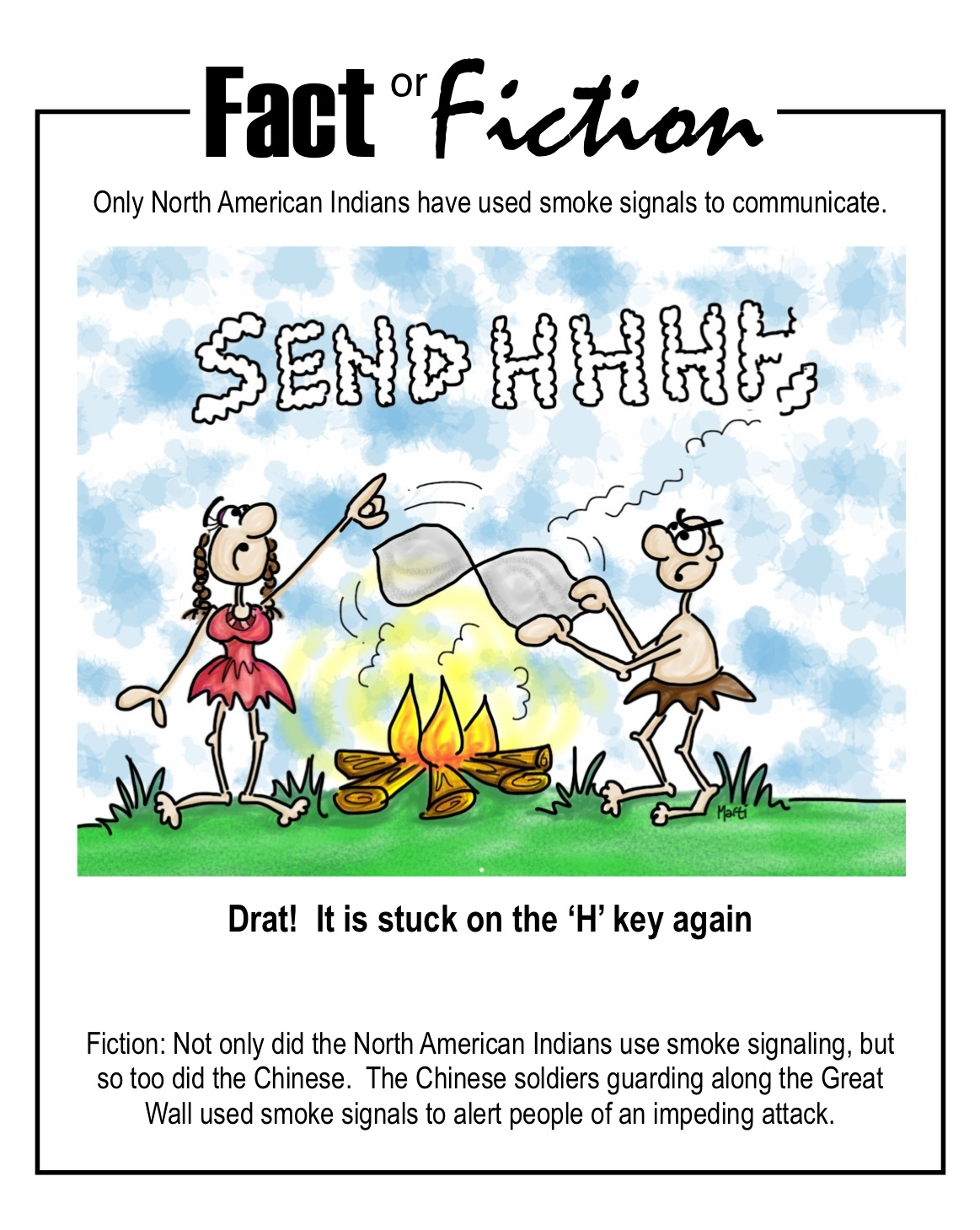 comic   Fact or Fiction Cartoon