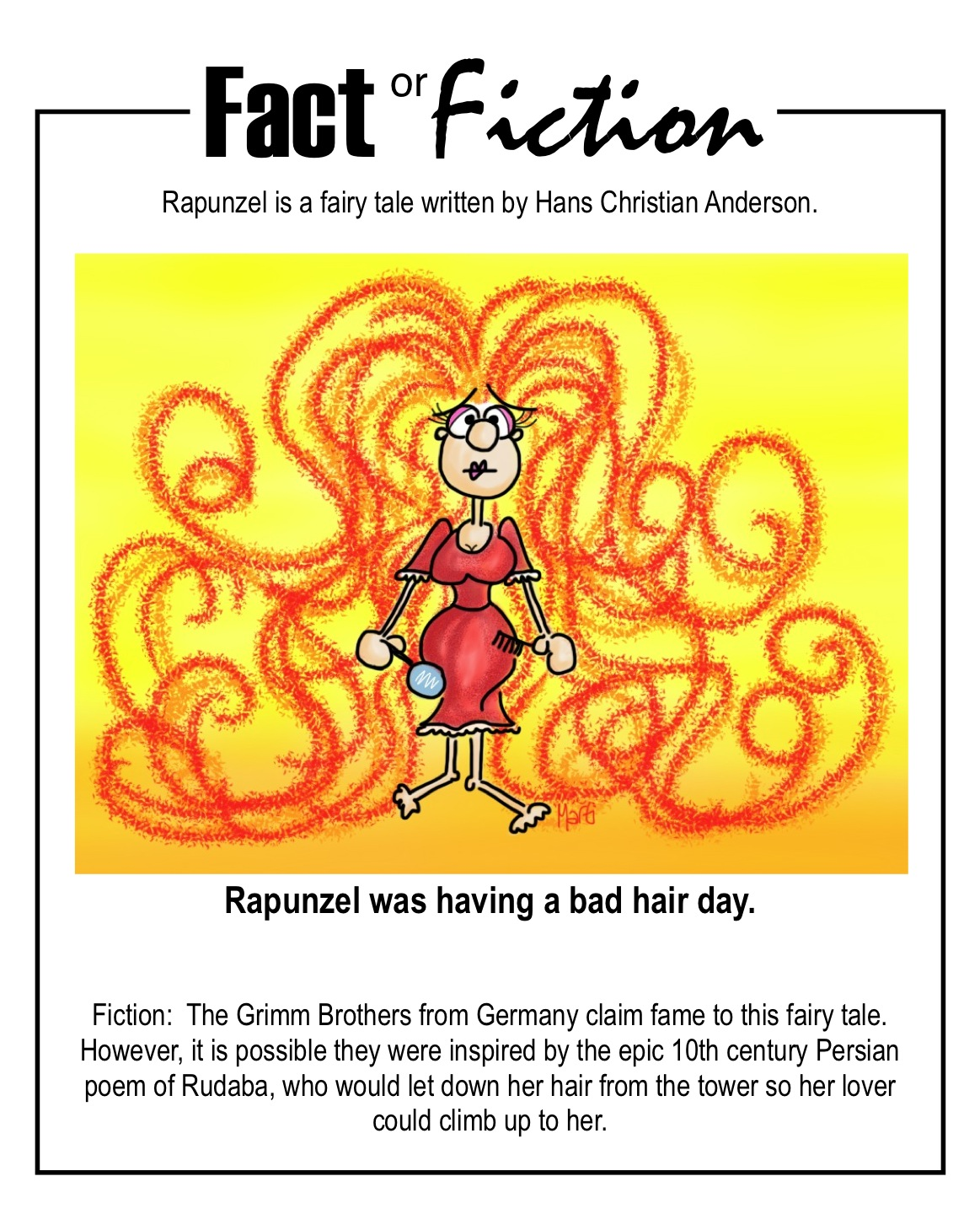 Bad Hair Day Fact Or Fiction Cartoon